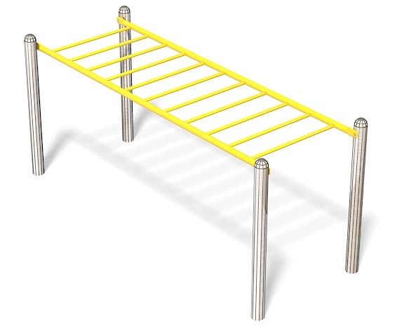 12ft Accessible Overhead Ladder | Commercial Playground Equipment