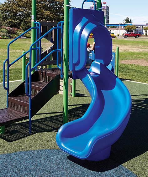 3ft Twister Slide for playground   Henderson Recreation