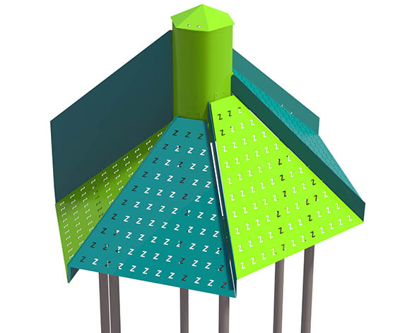 Staggered Hex Roof for Playground | Roto Molded Plastic Roof