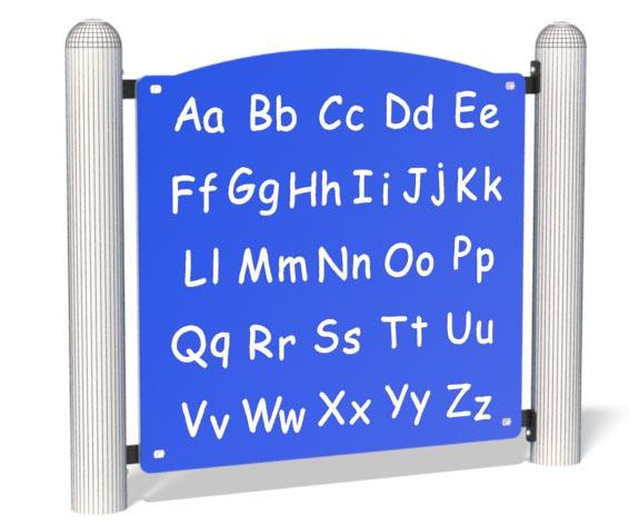 Alphabet Panel For Playground   Play, Fun & Study   Henderson Recreation