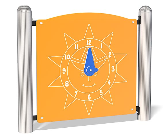 Clock Panel Play Equipment | Freindly Clock Features To Learn