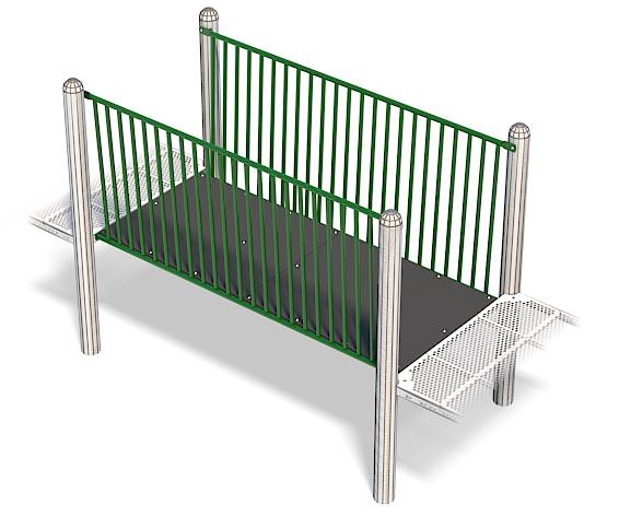Flat Bridge For Playground | Wheelchair Accessible Bridge