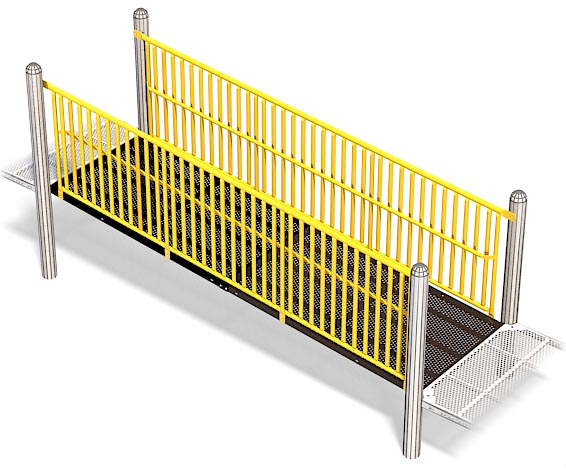 Wheelchair Ramp Barriers For Playground | Easy Accessible Wheelchair Ramp