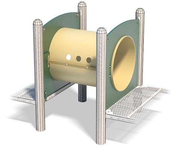 3ft Crawl Tunnel For Playground | Connects Two Decks | Same Height