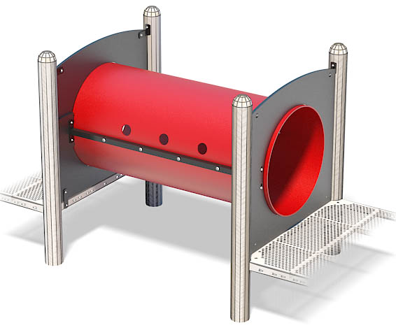 Straight Crawl Tunnel 5Ft | Designed for Space Underneath