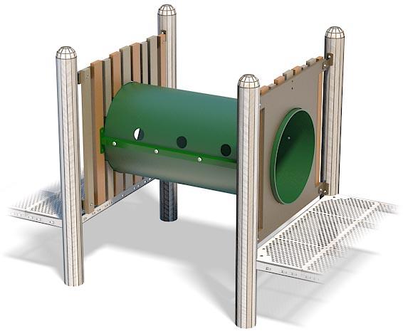 PlayFort Crawl Tunnel for playground | Henderson Recreation