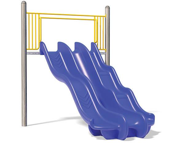 6ft Triple Chute Slide for Playground   Henderson Recreation