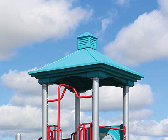 Cupola Roof for Playground | Peaked Roof Design with a Cupola