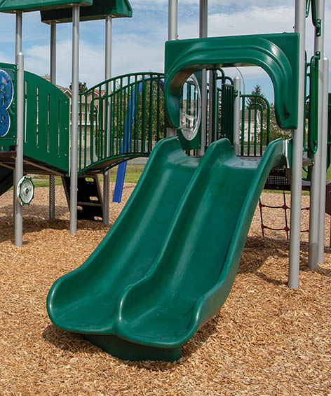 Double Scoop Slide for Playground | Henderson Recreation