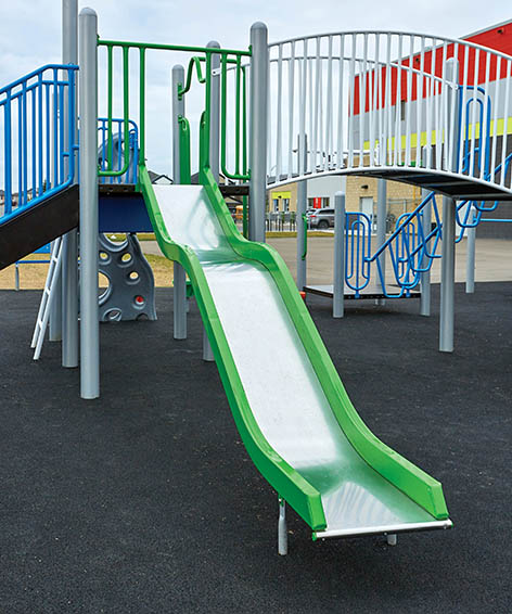 Wavy Stainless Steel Slide for Playground   Henderson Recreation