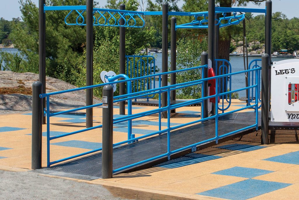 WHEELCHAIR RAMP WITH GUARDRAILS for playground | Henderson Recreation