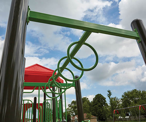 6ft Loop to Loop For Playground | Stationary Round Loops