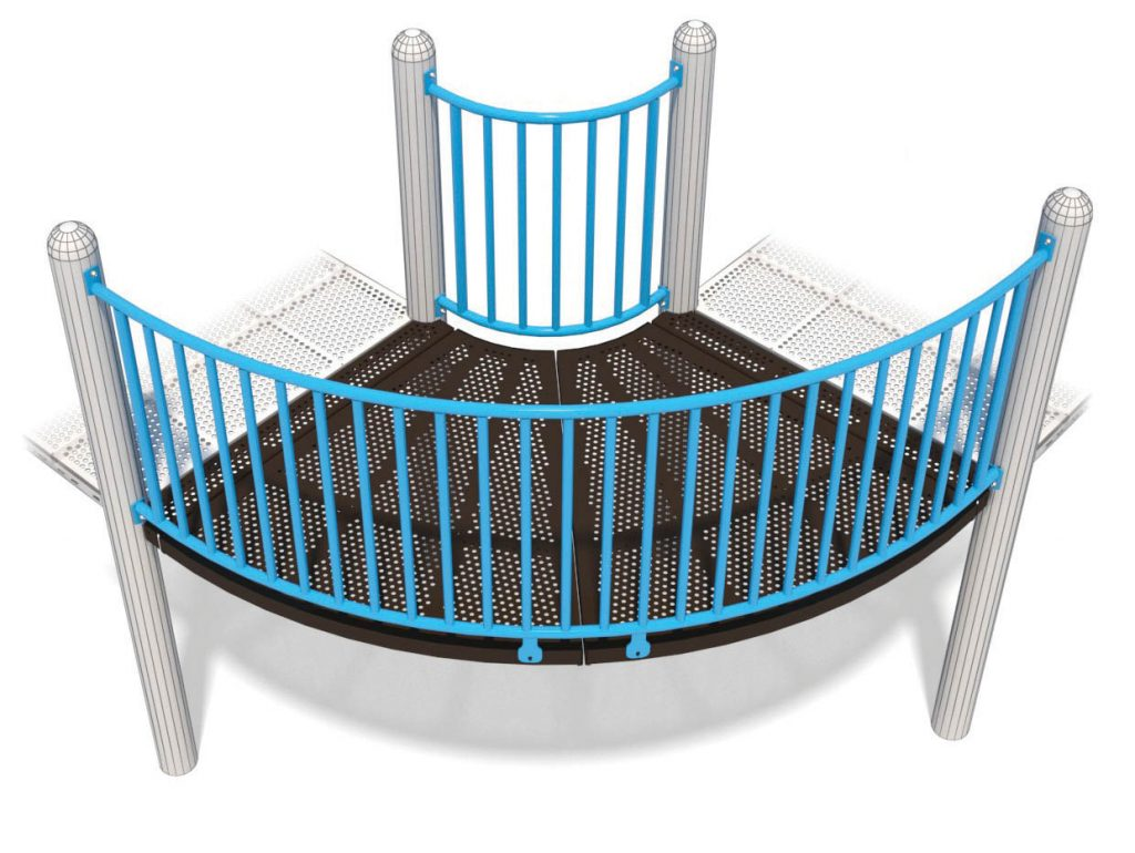 90° Bend Bridge For Playground | Great Way to Add Twists and Turns