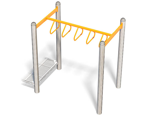 6ft Triangle Rung Overhead | Commercial Playground Fun Equipment