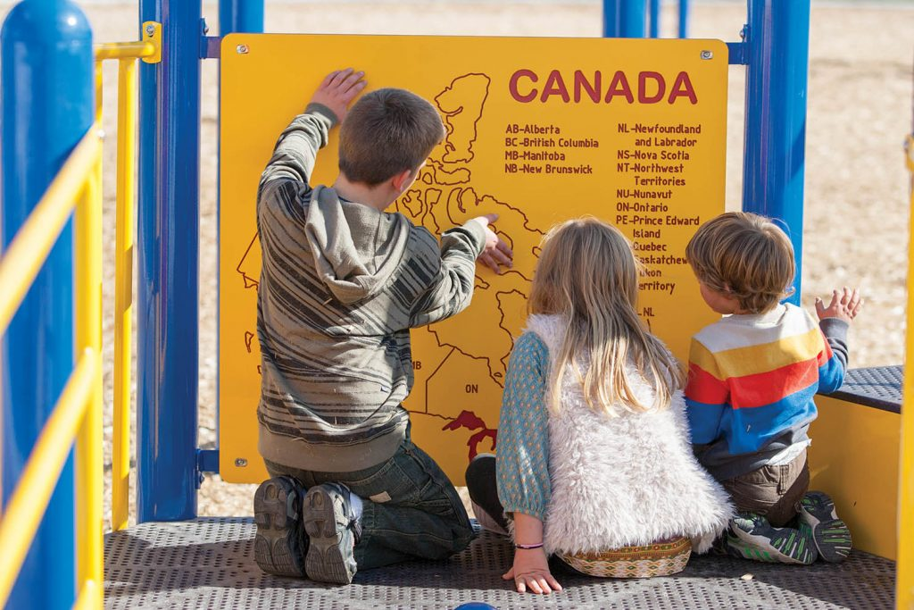 Canada Map Panel   School Playing Educational Activity   Henderson Recreation