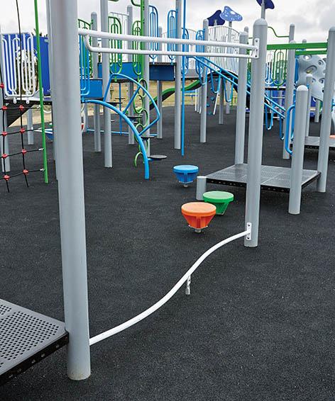 Snake Balance Beam Play Equipment   Overhead Activity and Balance Beam