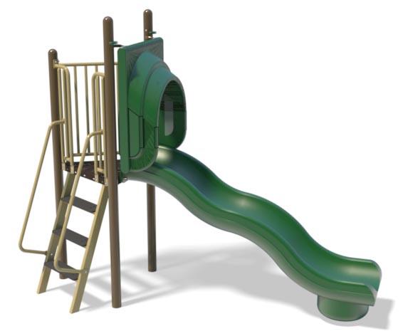 6ft Freestanding Wave Slide for Playground   Henderson Playground