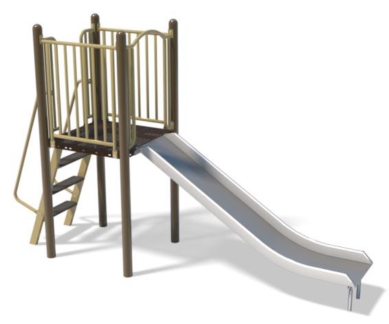 4ft Stainless Slide and Ladder   Henderson Recreation