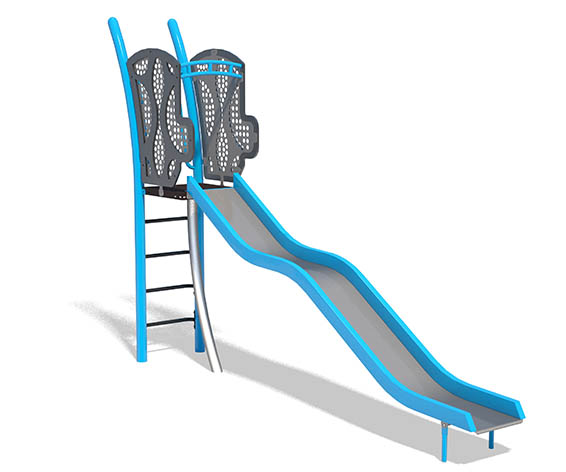 Freestanding 5ft Wavy Stainless Steel Slide   Henderson Rereation
