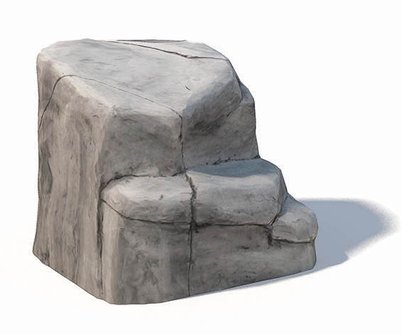nature inspired concrete large boulder
