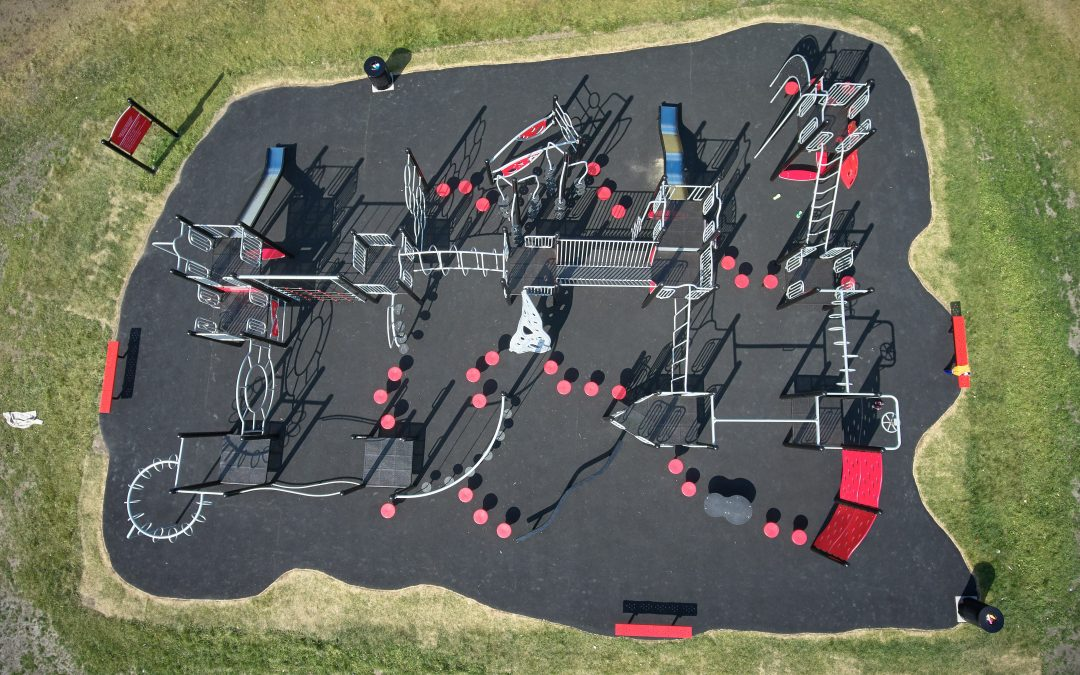 Henderson Playgrounds specializes in traditional freestanding play equipment, climbers, play vehicles, motion toys, spring riders, heavy-duty swing sets, arch and three-leg swings, T-swings, and nature-inspired tree swings.